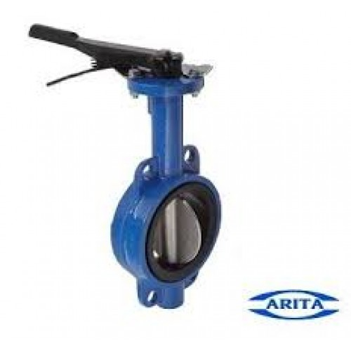 "Arita Cast Iron Butterfly Valve, 2"", Stainless Steel Disc"