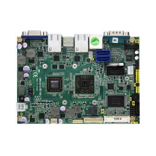"""3.5"""" Embedded SBC Motherboard CAPA111 with AMD G-Series APU, AMD A50M, LVDS/VGA, Dual LANs and Audio"""