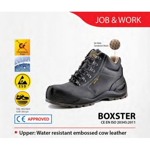 Boxter Middle Cut Water Resistant Cow Leather Safety Shoes BOXSTER