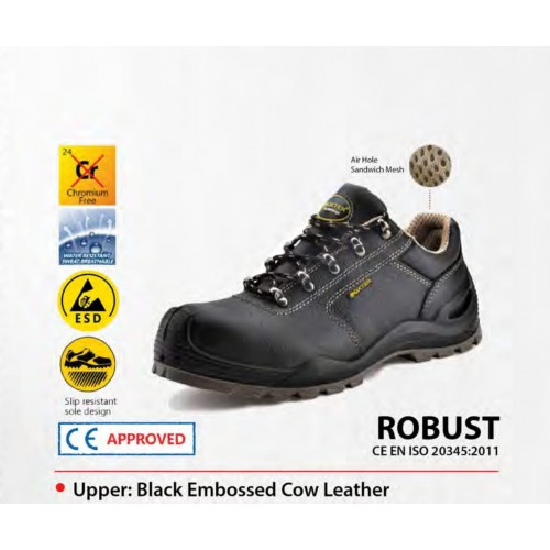 Boxter Water Resistant Cow Leather Safety Shoes ROBUST