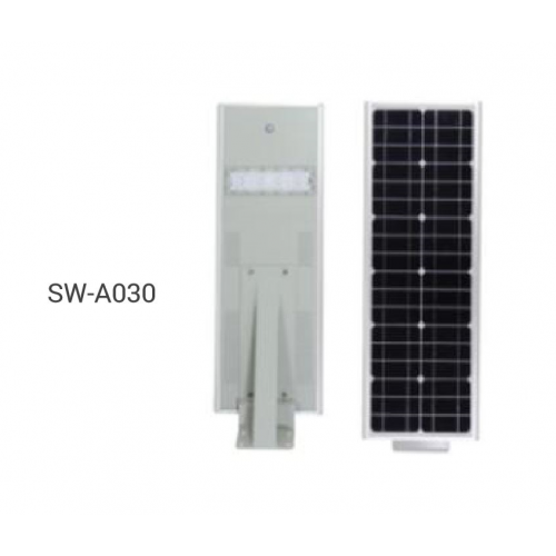 All-in-One 30W LED Solar Street Light with Security Camera (Optional)