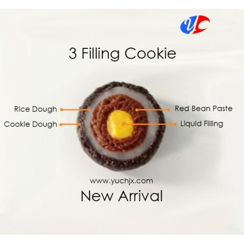 Automatic Three Center Filling Cookies Encrusting MachineProduction Line by YCM