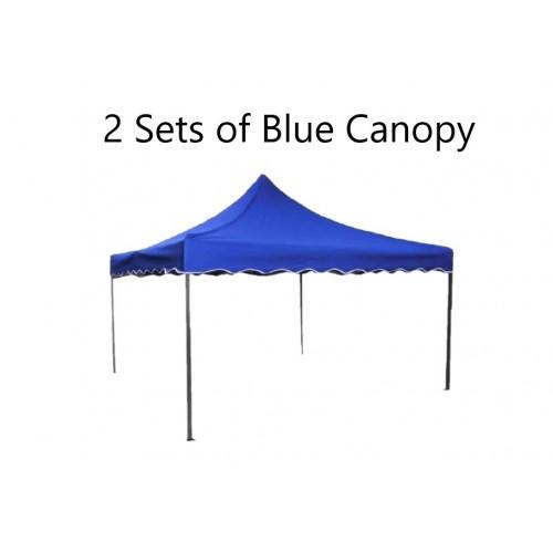 2 Sets of Market Canopy 6 feet x 6 feet in Blue