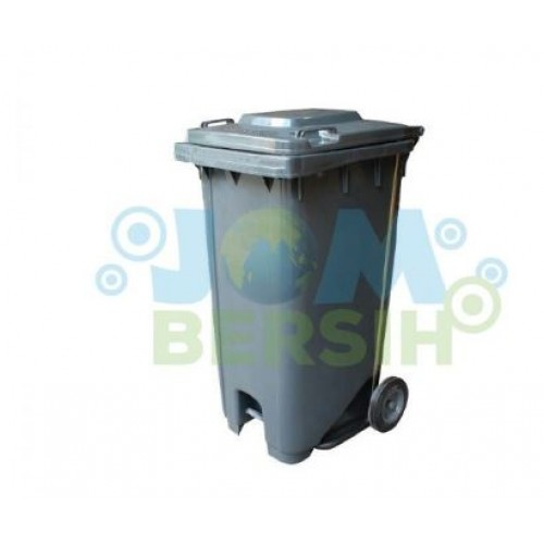 2 Wheel Waste Bin -Mobile garbage step on bins (grey)
