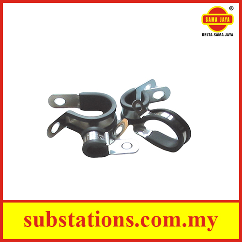 P-Clip/Stainless Steel Clamp C/W LSOH Rubber Liner