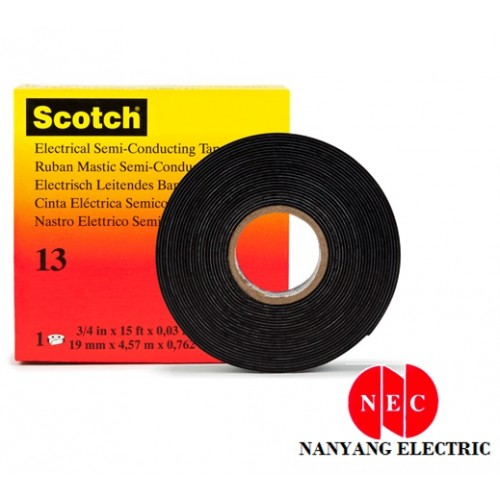 "3M 13 Scotch Electrical Semi Conducting Tape (3/4"" X 15')"
