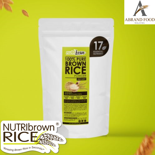 NutriBrown Rice 100% Pure Brown Rice Instant Powder for Beverage or Healthy Nutrition Supplement