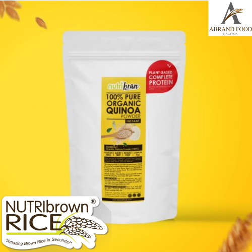 NutriBrown Rice 100% Pure Organic Instant Quinoa Powder Healthy Substitute for Rice