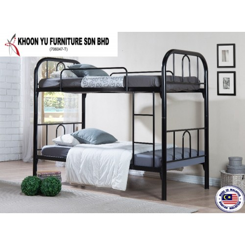 Double Decker Bed Frame - TS Safari Double Decker - Made in Malaysia Bedroom Furniture - For Local & Export