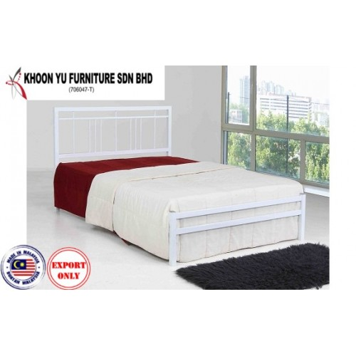 Bedroom Furniture, Full Bed Metal Bed Frame for export in Single Bed Double Bed Queen Bed size, TS 1021 Kitty by Khoon Yu Furniture, Made in Malaysia