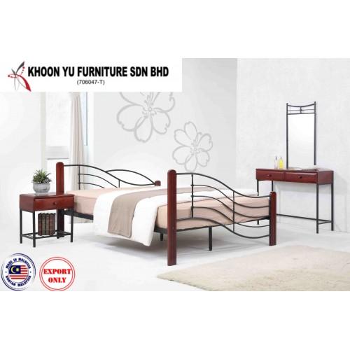Full Bed Metal Bed Frame Ts 1093 Wave Bed Manufacturer Khoon Yu Furniture Sdn Bhd