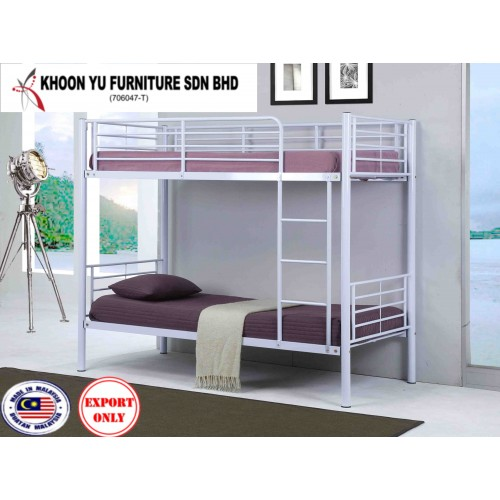 Bedroom Furniture, Full Bed Metal Bed Frame for export in Single Bed Double Bed Queen Bed size, TS 2002 Napolean Bunk by Khoon Yu Furniture, Made in Malaysia