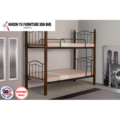 Bedroom Furniture, Bunk Bed Metal Bed Frame for export in Single Bed Double Bed Queen Bed size, TS 2005 Canadon by Khoon Yu Furniture, Made in Malaysia