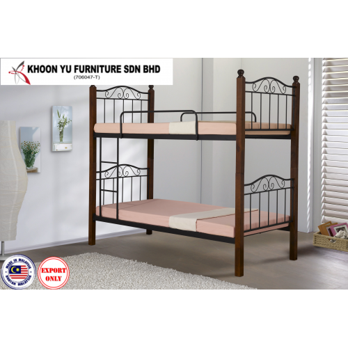 Bedroom Furniture, Bunk Bed Metal Bed Frame for export in Single Bed Double Bed size, TS 2006 Vintej by Khoon Yu Furniture, Made in Malaysia