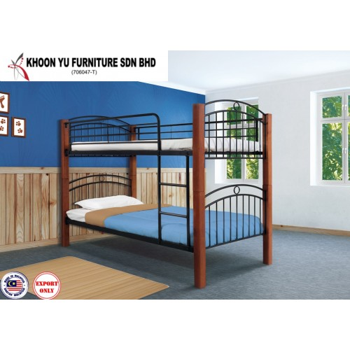 Bedroom Furniture, Bunk Bed Metal Bed Frame for export in Single Bed Double Bed size, TS 2008 Lavender by Khoon Yu Furniture, Made in Malaysia
