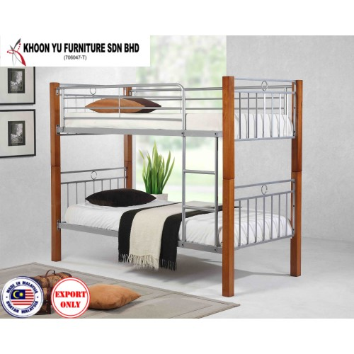 Bedroom Furniture, Bunk Bed Metal Bed Frame for export in Single Bed Double Bed size, TS 2013 Asahi Bunk by Khoonyu Furniture, Made in Malaysia