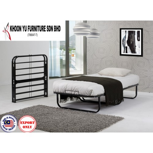 Foldable Single Bed Frame - TS 221 Maxwell Folding bed - Made in Malaysia Bedroom Furniture - For Export only