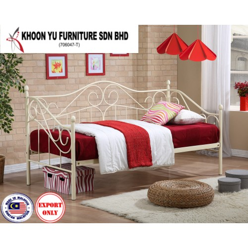 Bedroom Furniture, Bunk Bed Metal Bed Frame for export in Single Bed, TS 5005 Joseph Day Bed by Khoon Yu Furniture, Made in Malaysia