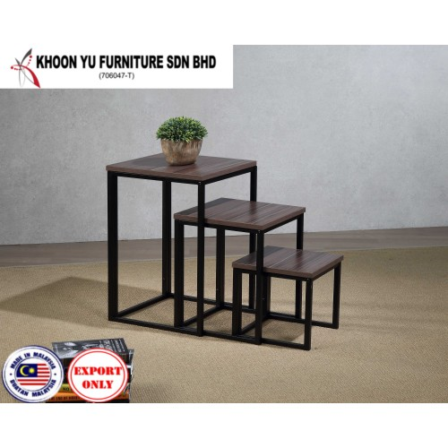 Home Furniture, Stand up Metal Shelf/Wardrobe for export in , Home Furniture TS 9001 Gracio L Nesting Table by Khoon Yu Furniture, Made in Malaysia