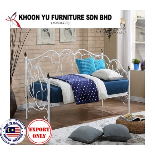 Bedroom Furniture, Casual Bed Metal Bed Frame for export in Single Bed, TS 5008 Alaska Day Bed by Khoon Yu Furniture, Made in Malaysia