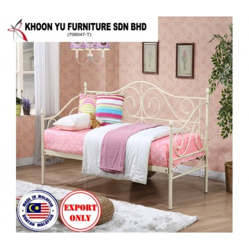Bedroom Furniture, Full Bed Metal Bed Frame for export in Single Bed Double Bed Queen Bed size, TS 5009 Rio Day Bed by Khoon Yu Furniture, Made in Malaysia