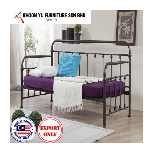 Bedroom Furniture, Full Bed Metal Bed Frame for export in Single Bed Double Bed Queen Bed size, TS 5011 Elsie Day Bed by Khoon Yu Furniture, Made in Malaysia