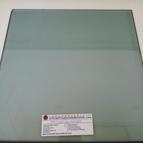 TEMPERED CRYSTAL GREY FLOAT GLASS