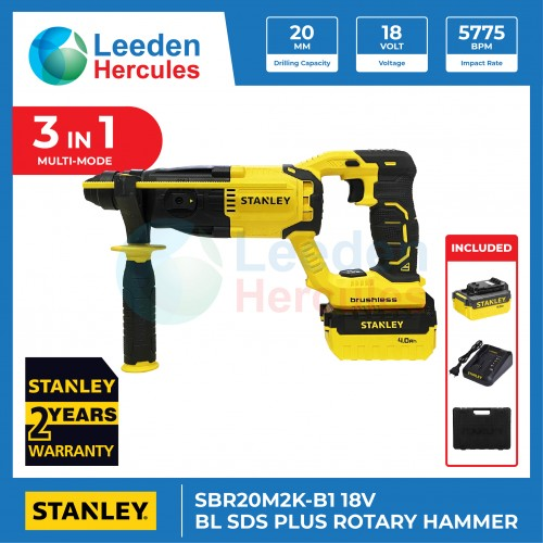 STANLEY BL SDS PLUS ROTARY HAMMER 18V POWER TOOL SBR20M2K-B1