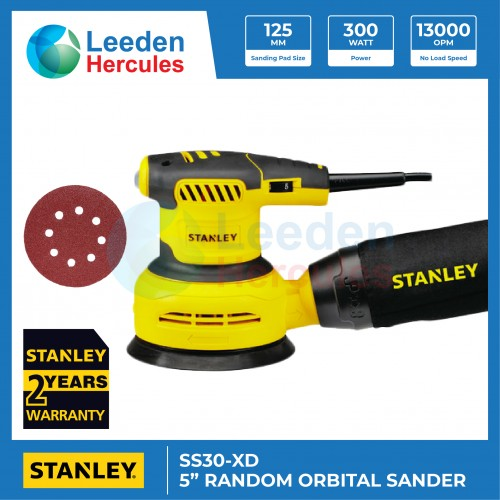 "STANLEY RANDOM ORBITAL SANDER SS30-XD 5"""