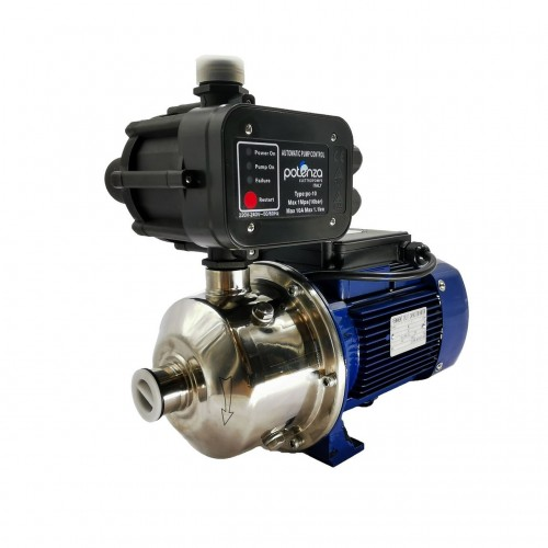 Potenza Horizontal PSW Series Multi-Stage Stainless Steel Water Pump W Control Booster 0.37KW, (1x1), 240V/1PH PSW-2-30/037-PC 10