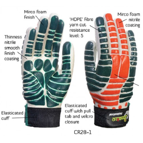 2RABOND Cut Resistant Gloves CR28 Super Touch 2