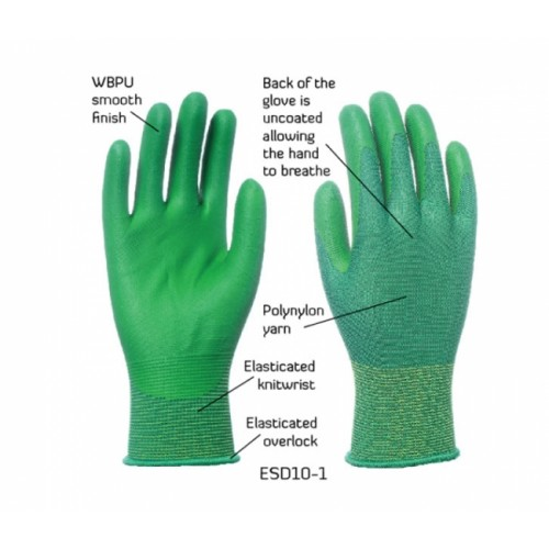 2RABOND ESD Anti Static Gloves ESD10 Citiman 2