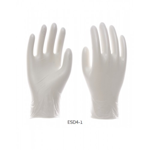 2RABOND ESD Anti Static Gloves ESD4 Clear Vinyl Gloves