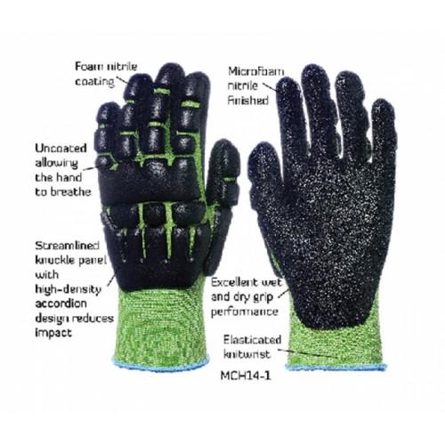 2RABOND Mechanical Impact & Anti Vibration Gloves MCH14 NTV 2