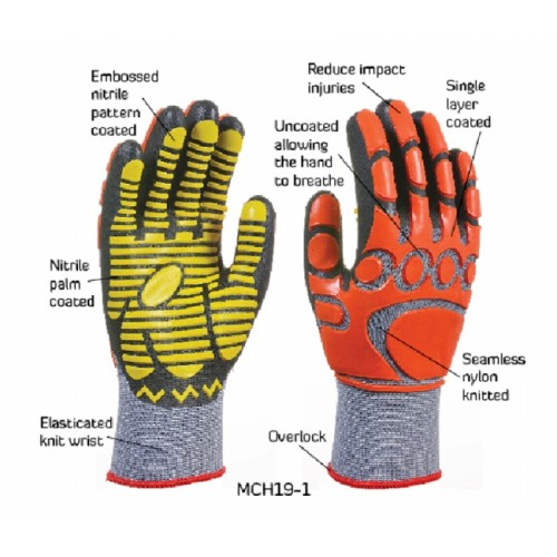 2RABOND Mechanical Impact & Anti Vibration Gloves MCH19 MG 6