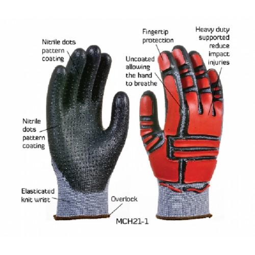 2RABOND Mechanical Impact & Anti Vibration Gloves MCH21 MG 8