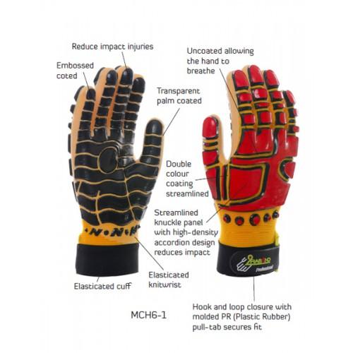 2RABOND Mechanical Impact & Anti Vibration Gloves MCH6 Robotcop 1