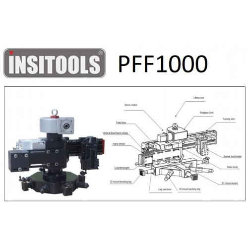 INSITOOLS Facing Machine Portable Flange Facer PFF1000