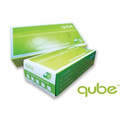 High Risk Professional Latex Exam Glove, Disposal Glove, Non-sterile, Hand Glove Medium size by Qube Medical Products