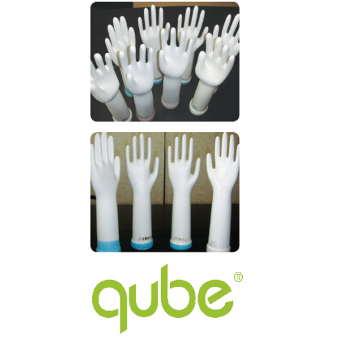 Pre-Powdered Latex Exam Glove, Disposal Glove, Hand Glove Large size by Qube Medical Products