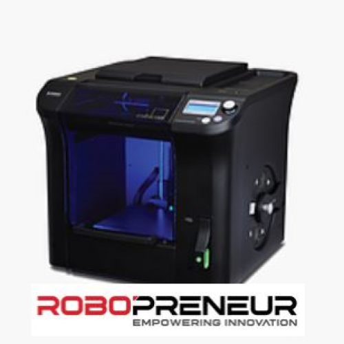 Cubicon Single Plus FFF type Domestically Designed Replaceable Extruder 3D Printer by Robopreneur