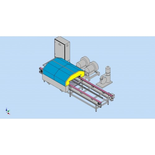 Conveyor Blower System Durian cleaner ACS 0014 by Amcon systems