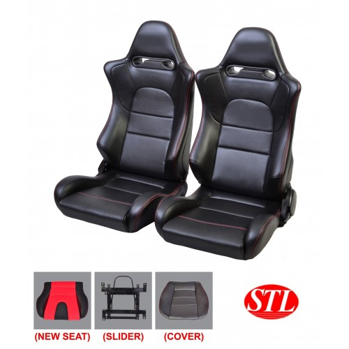 Black PU Racing Car Seat by Santeclink resources Malaysia car seat manufacturer