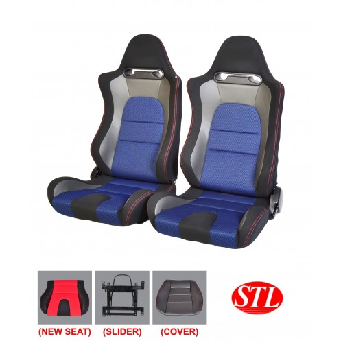 Blue Racing Car Seat manufactured by Santeclink resources