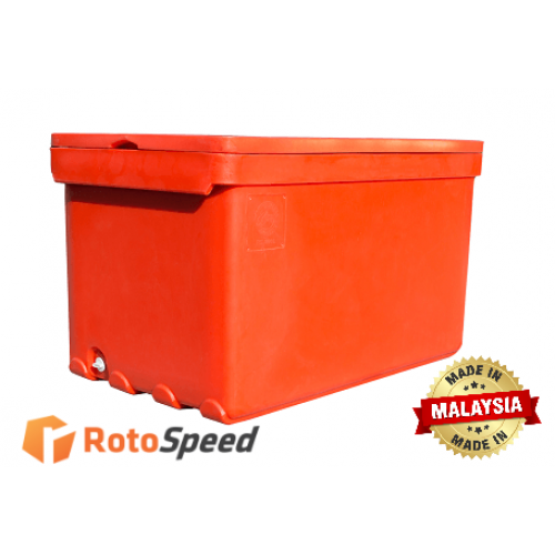 High Density Polyurethane Foam Seafood Ice Cooler Container series RS 350L by Roto Speed Moulding