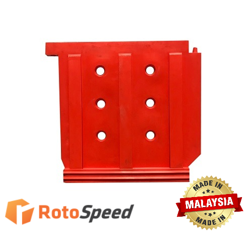 Male-female Pin System Traffic Barrier RTC-RH1 by Roto Speed Moulding