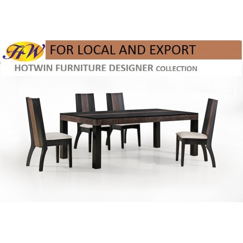 Hotwin Furniture Solid Tabletop Dining Table Furniture Model HW BALI.