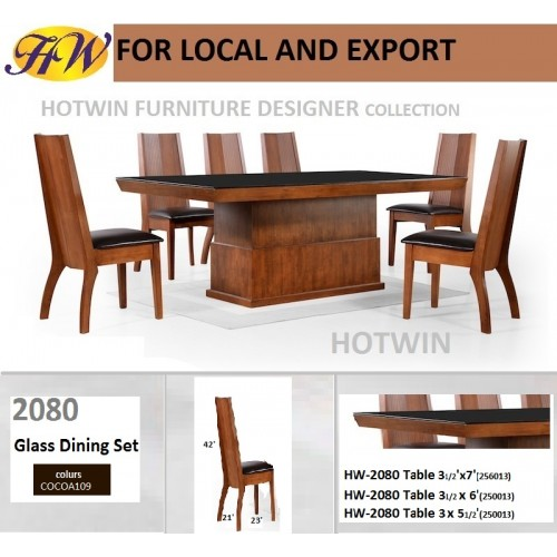 Hotwin Furniture Glass Dining Table Furniture  Model  HW 2008.