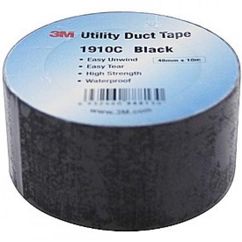 3M Black Duct Tape 1910C 48MMX50M BLK