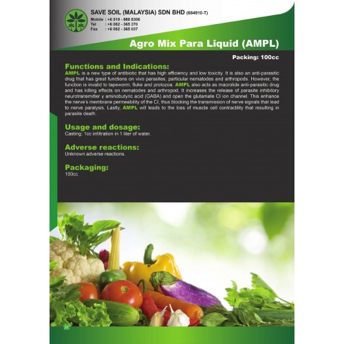 Save Soil Fertilizer Agro Mix Para Liquid (AMPL) 100cc